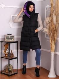 Purple - Black - Fully Lined - Vest