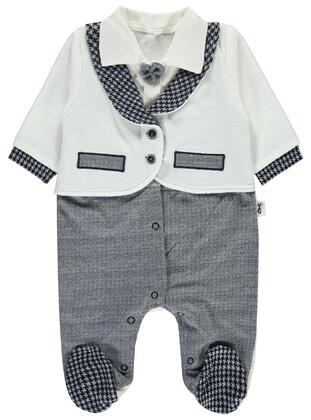 Navy Blue - Baby Sleepsuit