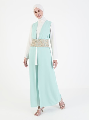 Green - Unlined - Abaya