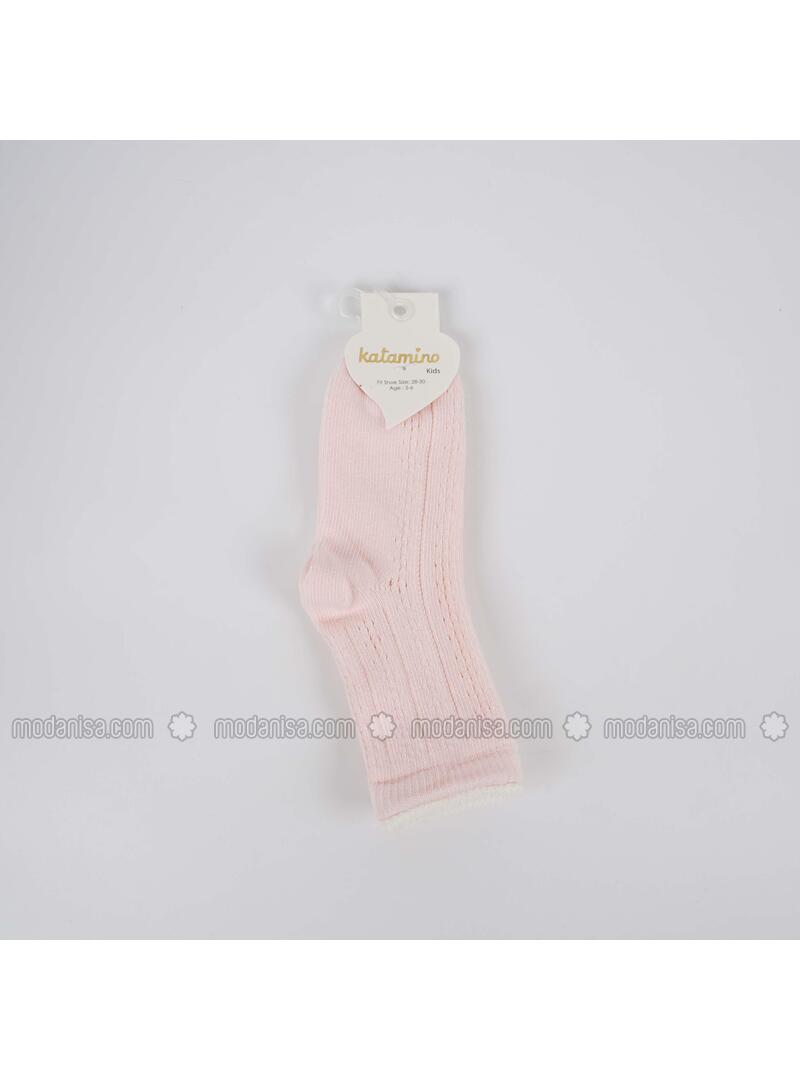 Beige - Girls` Socks