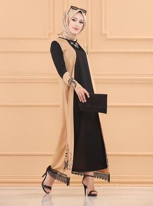 Mink - Crew neck - Unlined - Modest Dress