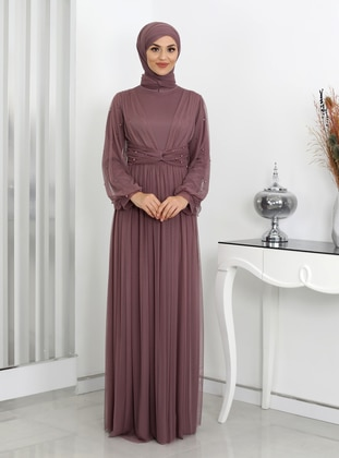 Dusty Rose - Fully Lined - Modest Evening Dress