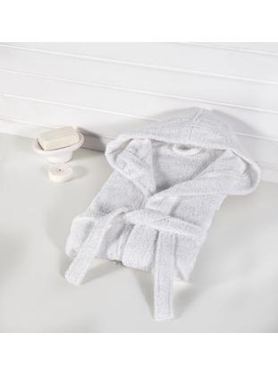 White - Cotton - Child Towel & Bathrobe