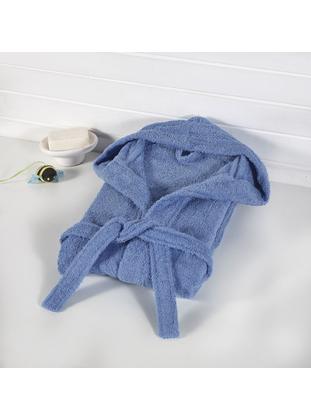 Blue - Cotton - Child Towel & Bathrobe