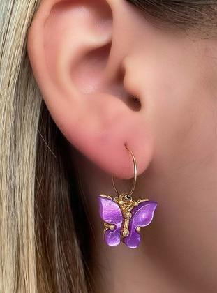 Purple - Earring