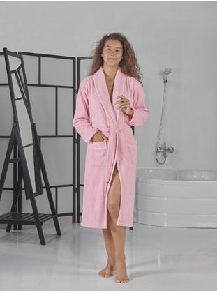 Pink - Cotton - Bathrobe