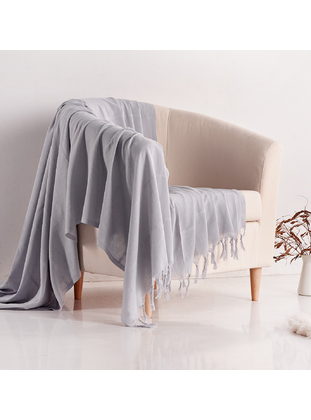 Gray - Cotton - Couch Cover