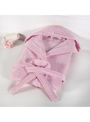 Pink - Cotton - Child Towel & Bathrobe