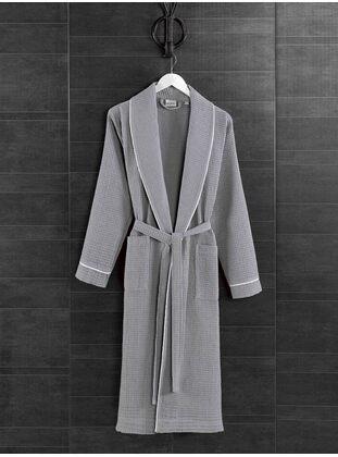 Gray - Cotton - Bathrobe
