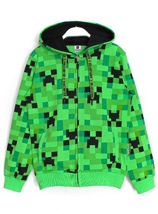 Multi - Unlined - Green - Boys` Jacket