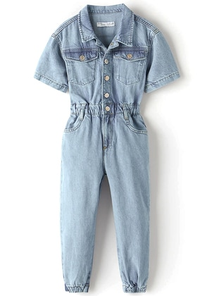 Multi - Point Collar - Unlined - Blue - Girls` Pants