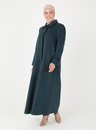 Petrol - Fully Lined - Plus Size Overcoat