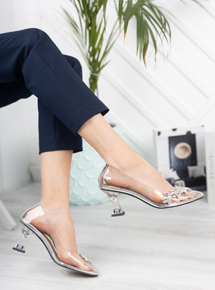 Silver tone - Heels - Moda Değirmeni