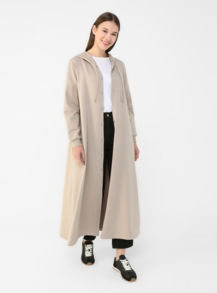 Camel - Brown - Unlined - Cotton - Topcoat
