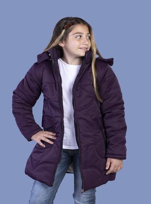 Purple - Girls` Jacket - Toontoy