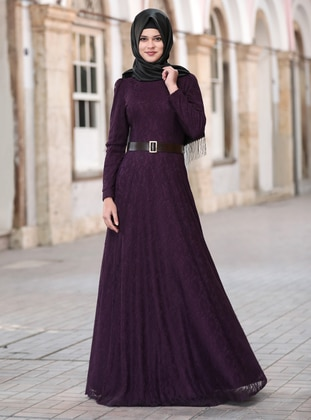 - Fully Lined - Crew neck - Modest Evening Dress