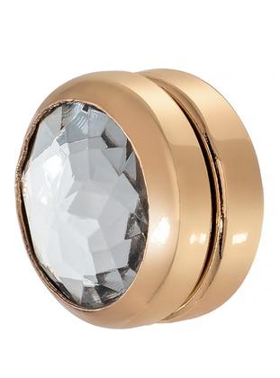 Gold - White - Hijab Clips - Fsg