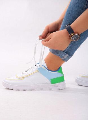 White - Sport - Lazer Cut - Sports Shoes