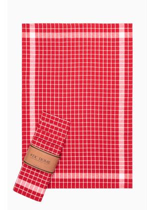 Red - Cotton - Tea Towel
