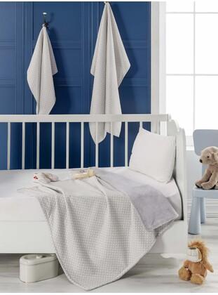 Gray - Cotton - Baby Blanket