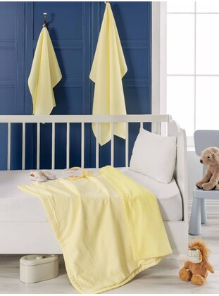 Yellow - Cotton - Baby Blanket