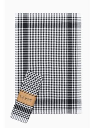 Black - Cotton - Tea Towel