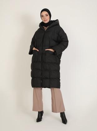 Black - Fully Lined - Puffer Jackets - BÜRÜN