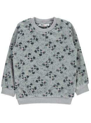 Gray - Girls` Sweatshirt - Civil