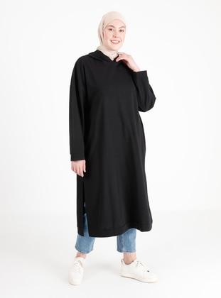 Black - Cotton - Sweat-shirt