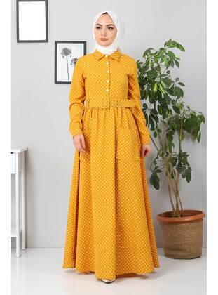 Unlined - Mustard - Modest Dress