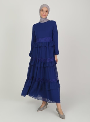 Saxe - Fully Lined - Crew neck - Modest Evening Dress
