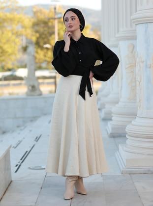 Fully Lined - Cream - Evening Skirt