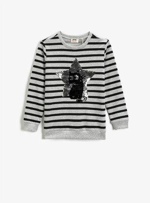 Black - Girls` Sweatshirt - Koton