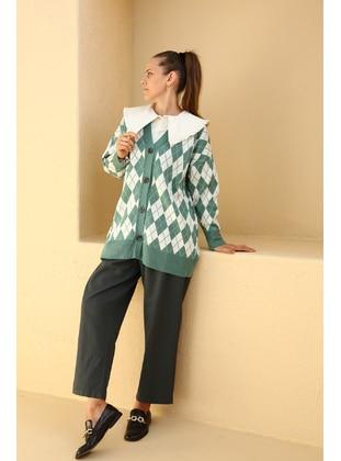 Green - Knit Cardigans