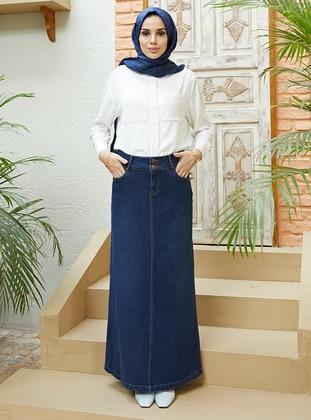 Navy Blue - Denim Skirt