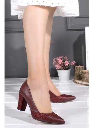 High Heel - Maroon - Heels