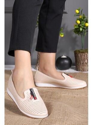 Flat - Beige - Flat Shoes