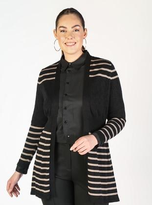 Black - Plus Size Cardigans - Lavien