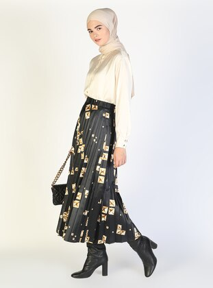 Black - Mink - Multi - Unlined - Skirt