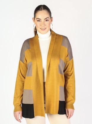 Mustard - Multi - Plus Size Cardigans - Lavien