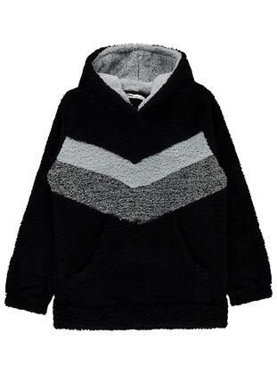 Black - Boys` Sweatshirt - Civil