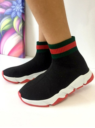 Red - Black - Green - Boot - Boys' Trainers