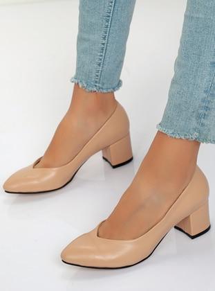 High Heel - Beige - Casual Shoes