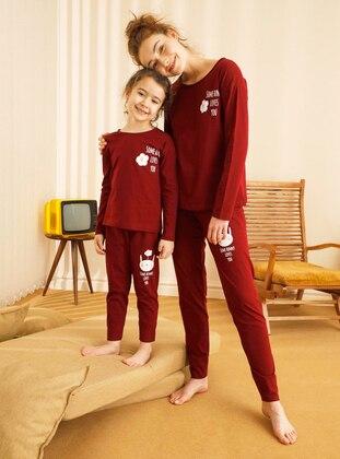 Maroon - Girls` Pyjamas