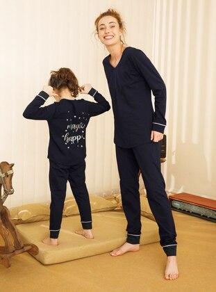 Navy Blue - Girls` Pyjamas