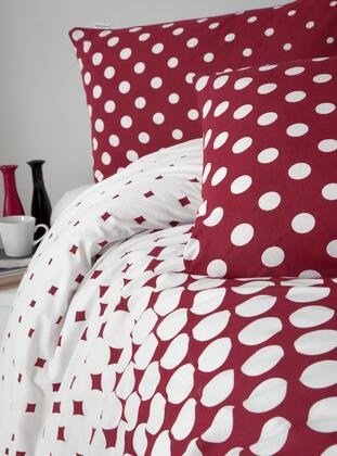 Red Notes Double Bed Linens Set