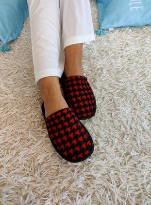 Red - Black - Home Shoes