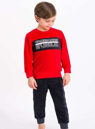 Red - Boys` Tracksuit - Roly Poly