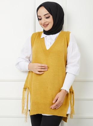 Unlined - Mustard - Knit Sweater