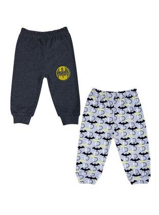 Multi - Gray - Cotton - Baby Pants
